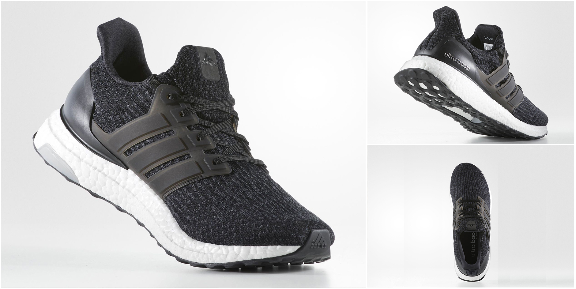 Black adidas running shoe