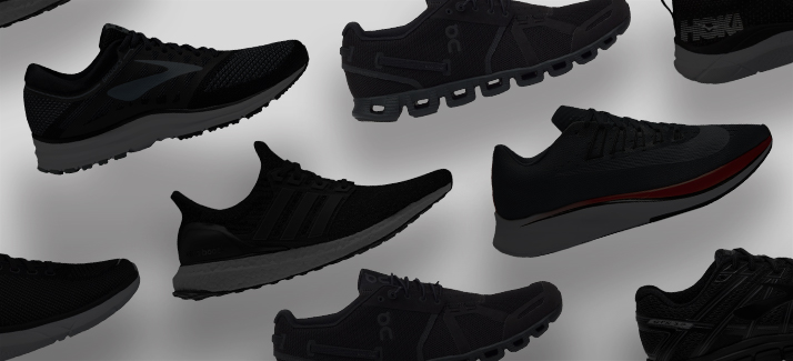 best all black running shoes