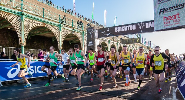 Brighton + marathon + People + Start Line