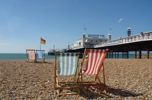 Brighton + Marathon + Beach + Beach Chairs + Pier