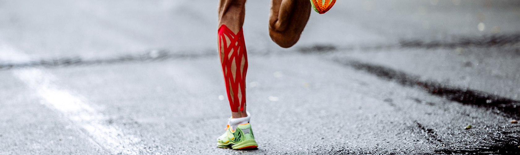 Running with kinesiology tape